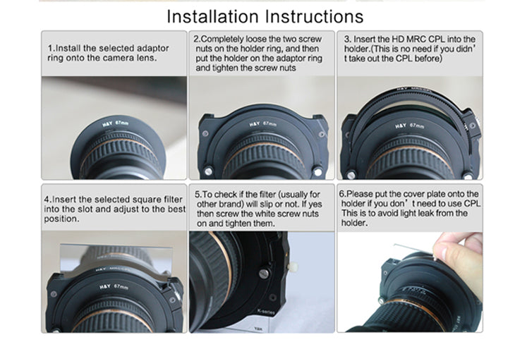 K-Series Holder installation instructions