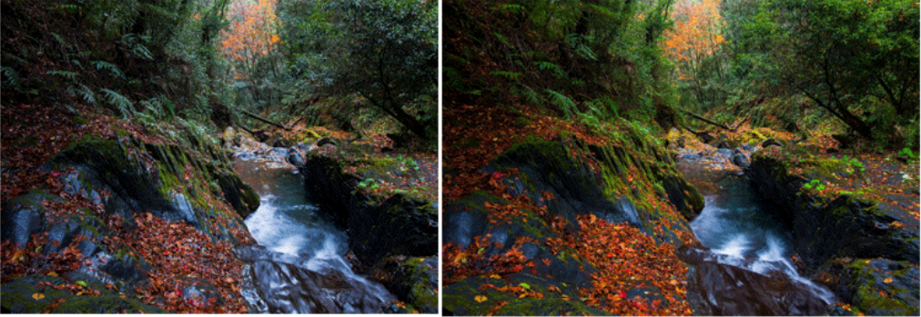 before and after mrc polarizing filter