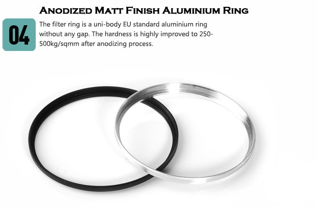 Anodized matt finish aluminium ring