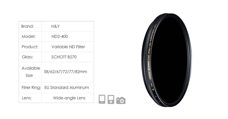Variable ND Filter ND2-400