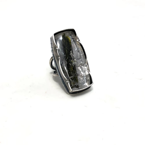 Brazilian Quartz with Epidote Eclectic Ethos Stag Ring