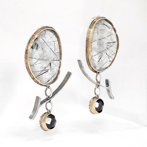 Tourmilated Quartz Arise Earrings