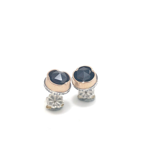 Black Spinel Arise Studs - medium