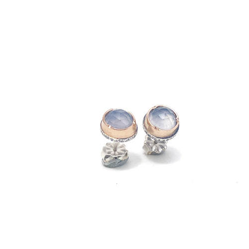 Light Blue Chalcedony Arise Studs