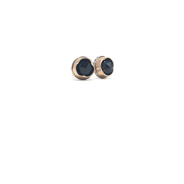 Black Spinel Arise Studs - small