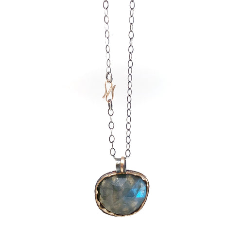 Arise Necklace with Rose Cut Labradorite