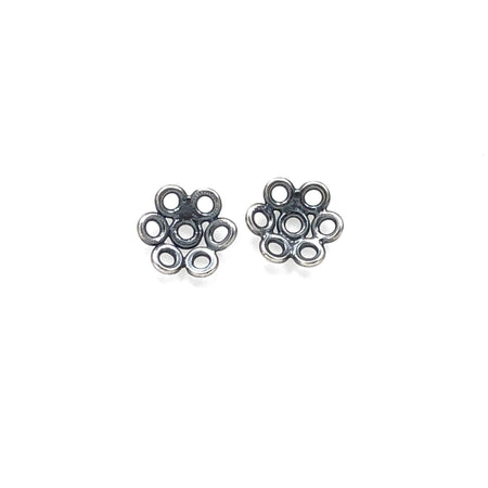 Creative Black Tie Tiny Studs