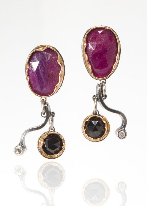 Ruby Sapphire Arise Earrings