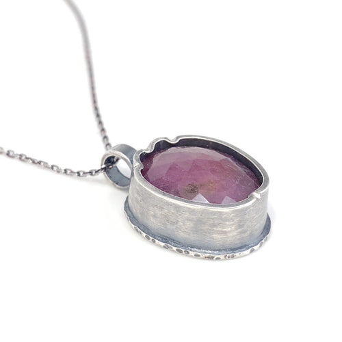 Pink Sapphire Pendant - Creative Black Tie (the sapphire collection)
