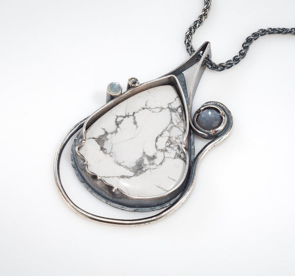 White Space, Open Space - One Of A Kind Pendant