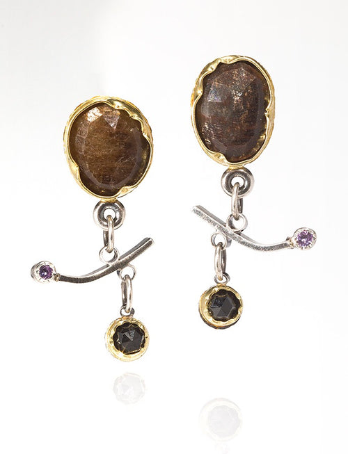 Grey Sapphire Arise Earrings