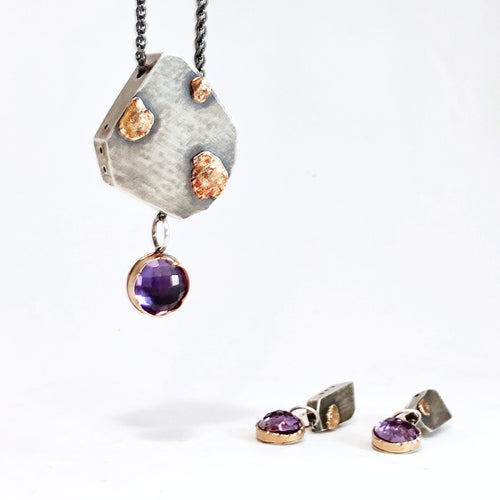 Arise Amethyst Necklace and Earrings (one of a kind)