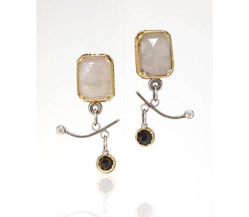 White Sapphire Arise Earrings