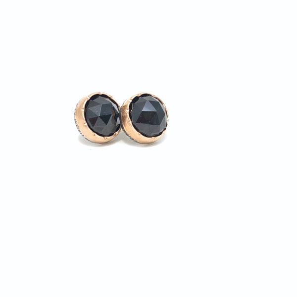 Black Spinel Arise Studs - large