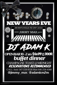 Jimmy Max New Years Eve