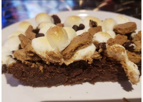Gluten Free, Nut Free Egg Free S'mores Brownie