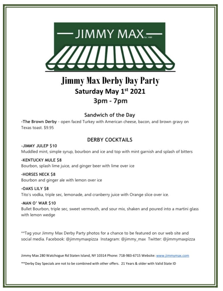 Jimmy Max Derby Day Party