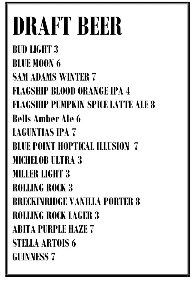 Jimmy Max Draft Beer Specials