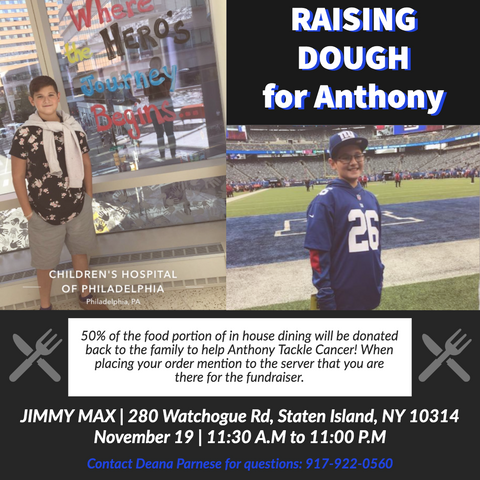Jimmy Max Raising Dough for Anthony