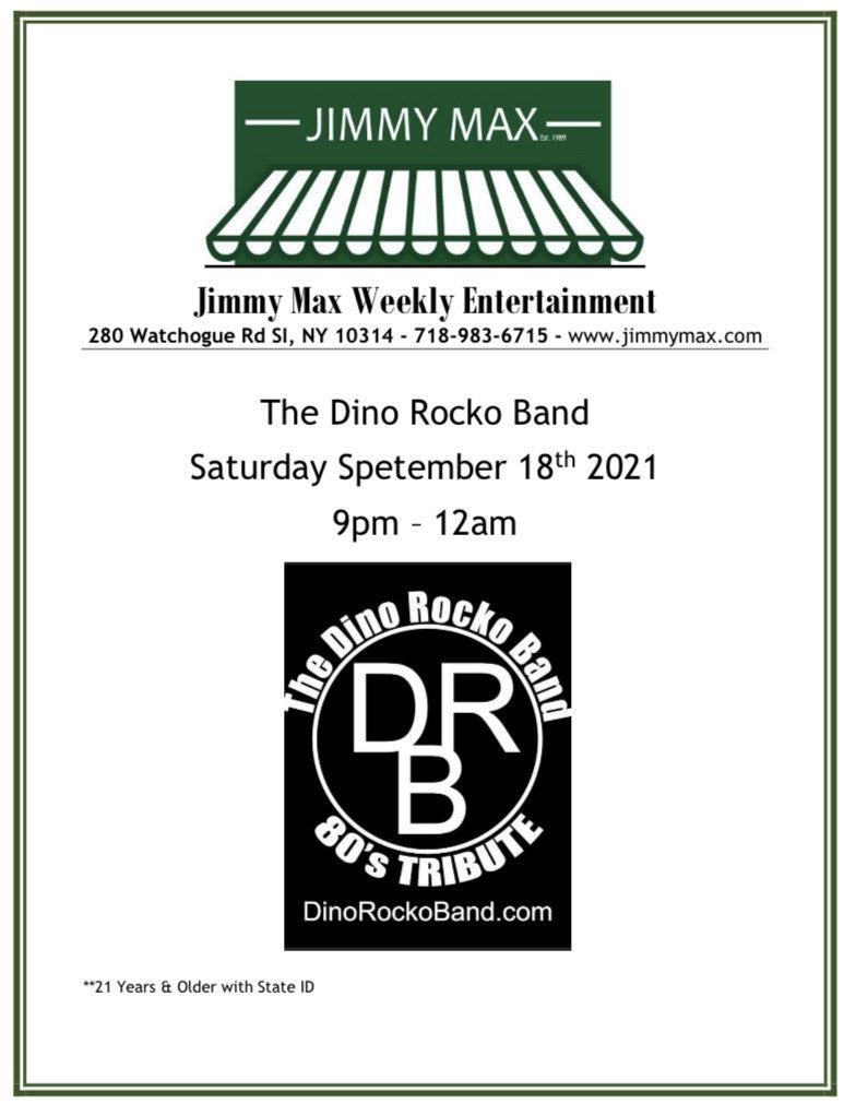 Jimmy Max Weekly Entertainment The Dino Rocko Band