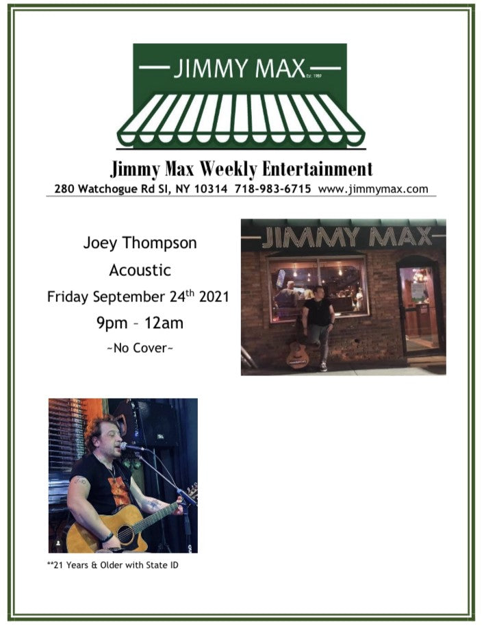 Joey Thompson Acoustic at Jimmy Max