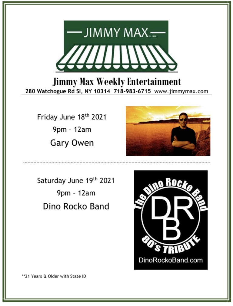 Jimmy Max Weekly Entertainment