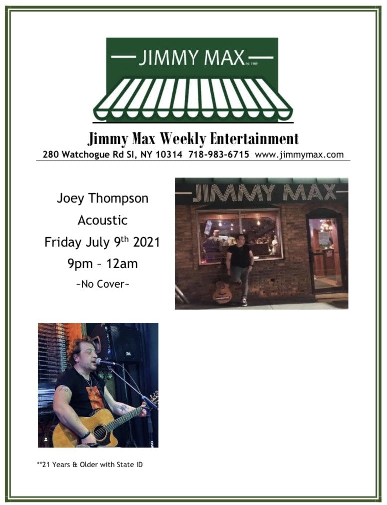 Jimmy Max Entertainment July 2021