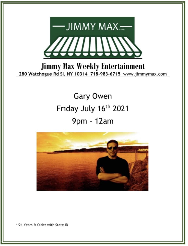 Jimmy Max Monthly Entertainment