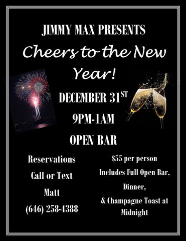 Jimmy Max New Years Eve Party