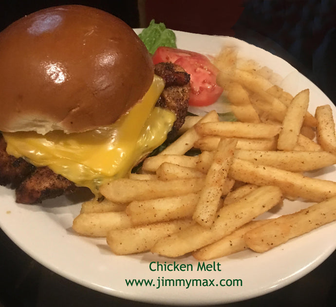 Jimmy Max Chicken Melt Sandwich and Fries