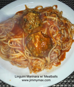 Linguine Pasta Sauce and Meatballs
