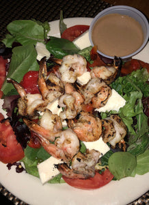 Baby Greens Salad with Grilled Shrimp