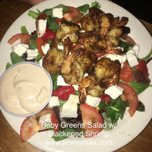 Jimmy Max Baby Greens Salad Blackened Shrimp