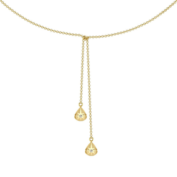 teardrop star lariat necklace