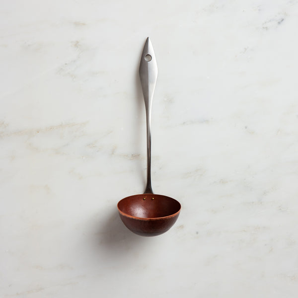 copper + stainless ladle