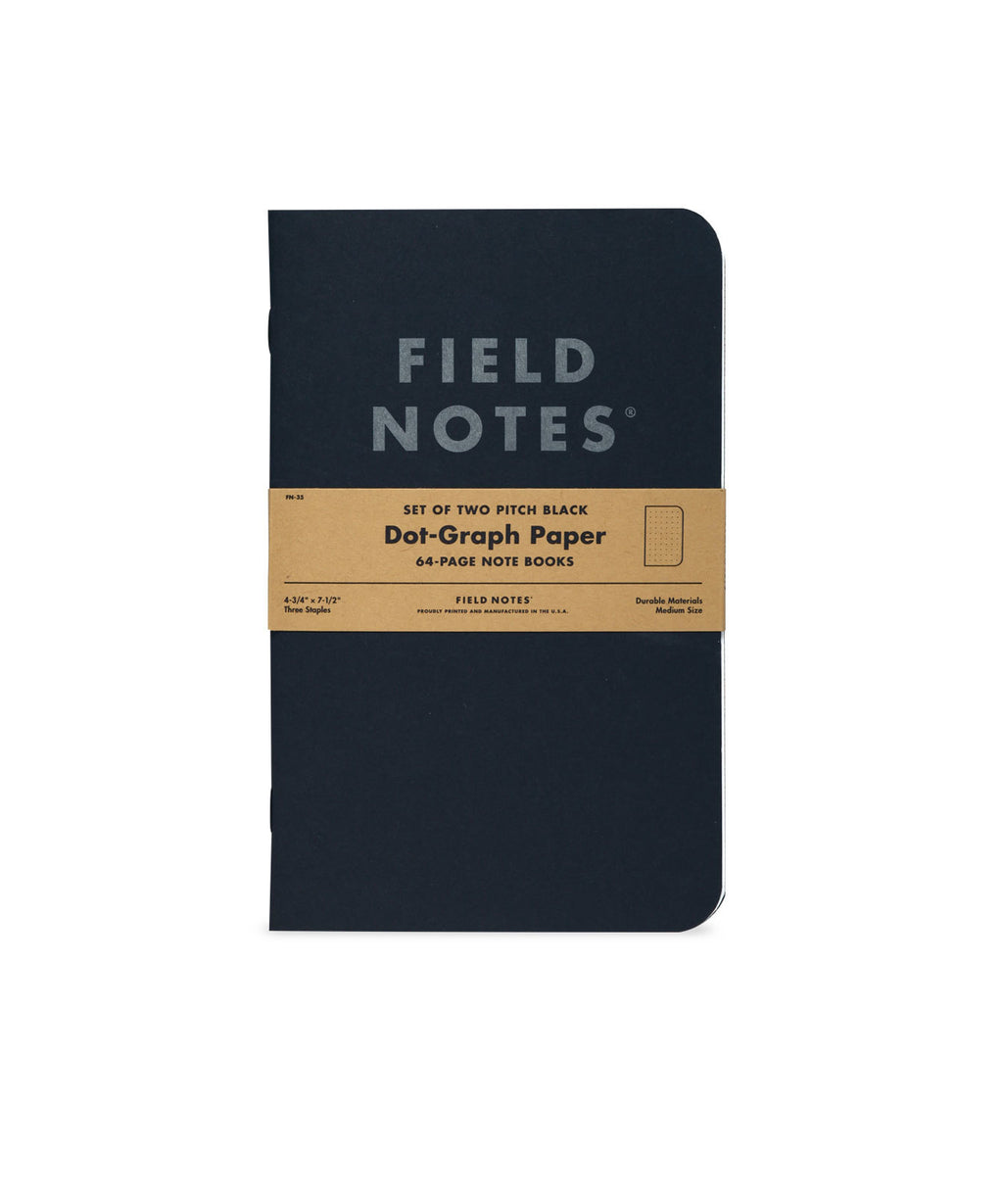 set of 2 | pitch black note books