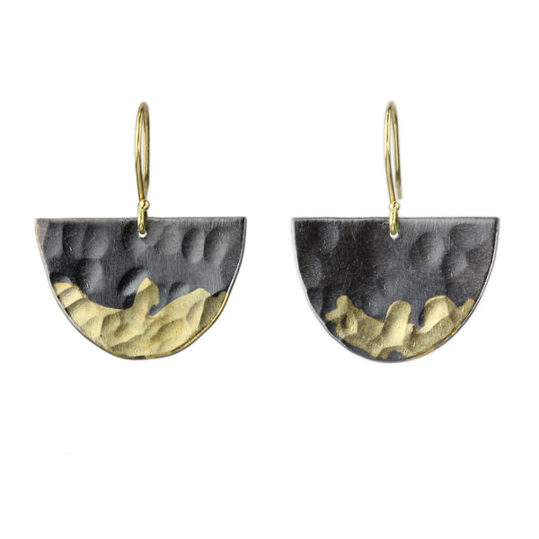 gilded half moon earrings