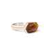 geometric citrine ring