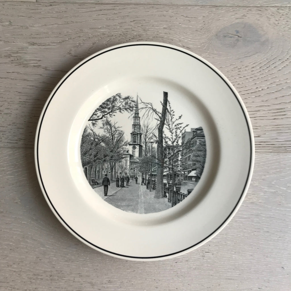 vintage centennial boston landmark plates