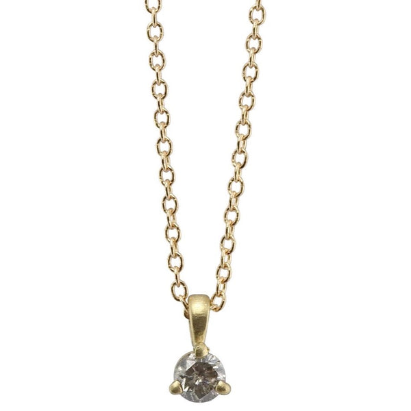 salt + pepper diamond necklace