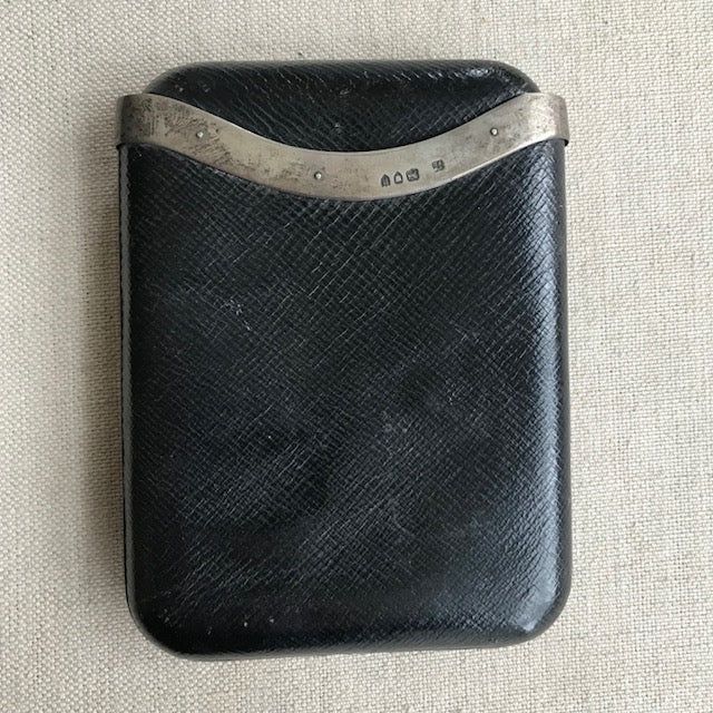 antique leather + sterling case | C