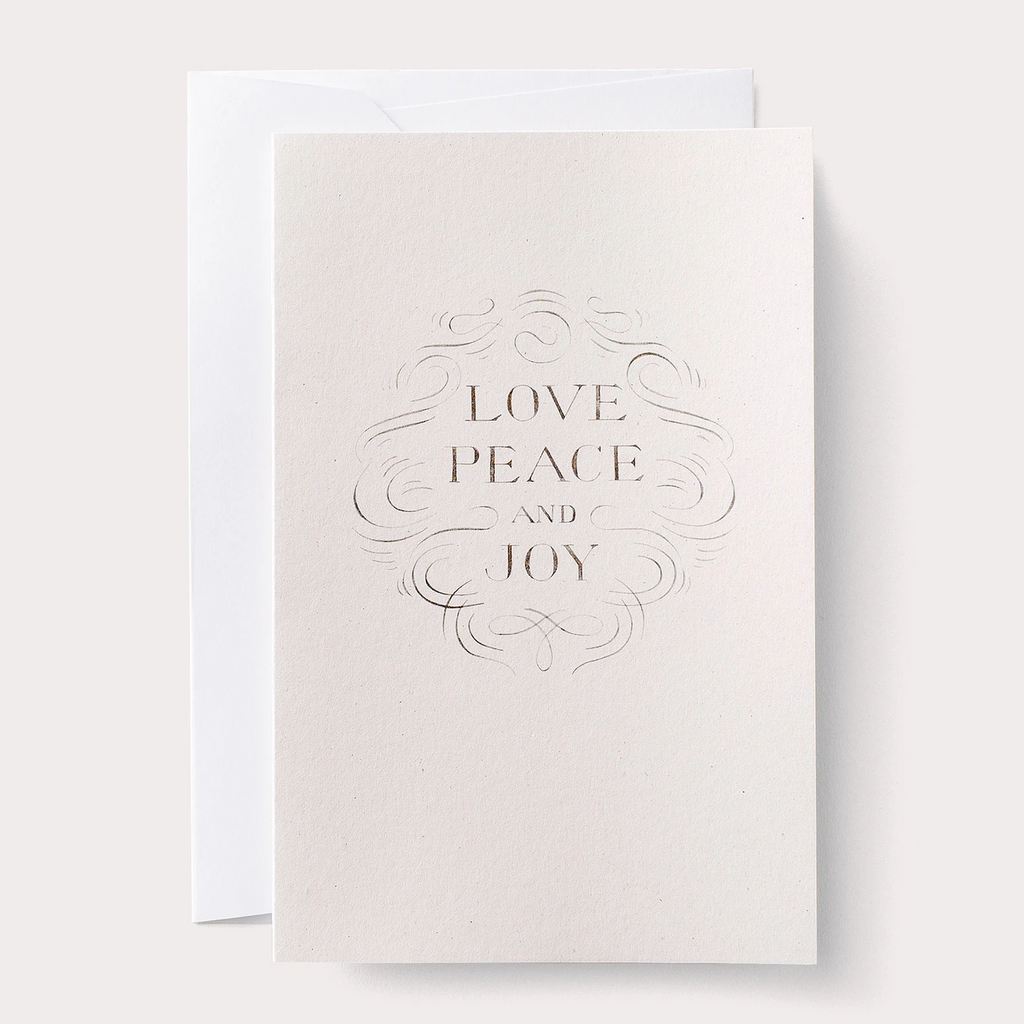 love peace and joy card