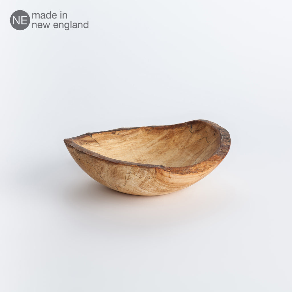 oval spalted maple bowl