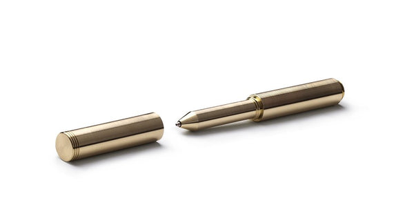 polished brass classic machined pen