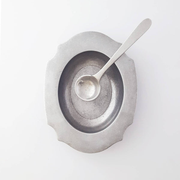 salt cellar + spoon
