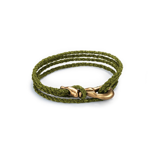 pelican clip hand-braided bracelet