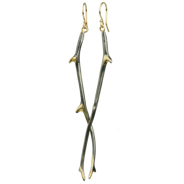 gilded antler earrings