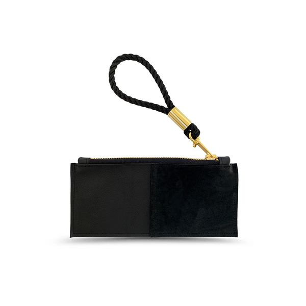 leather clutch with dock line wristlet