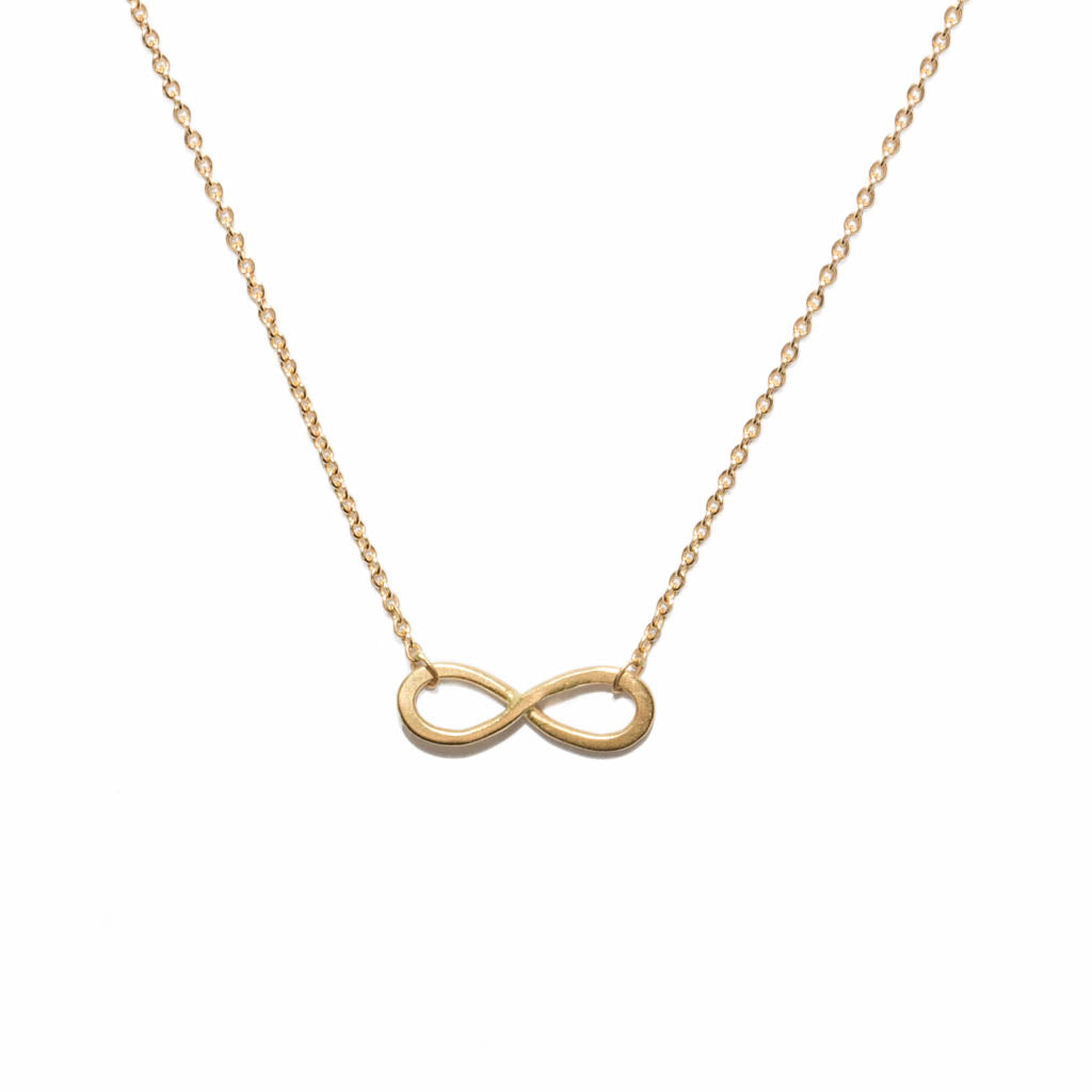 mini infinity necklace