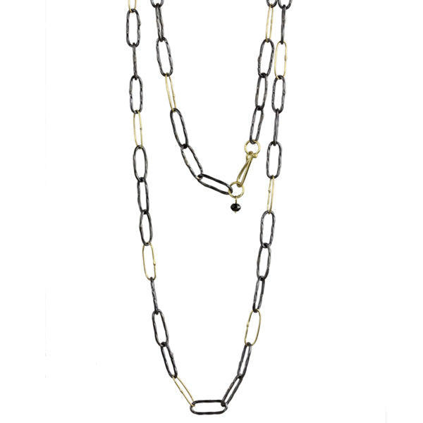 long two-tone bowline necklace